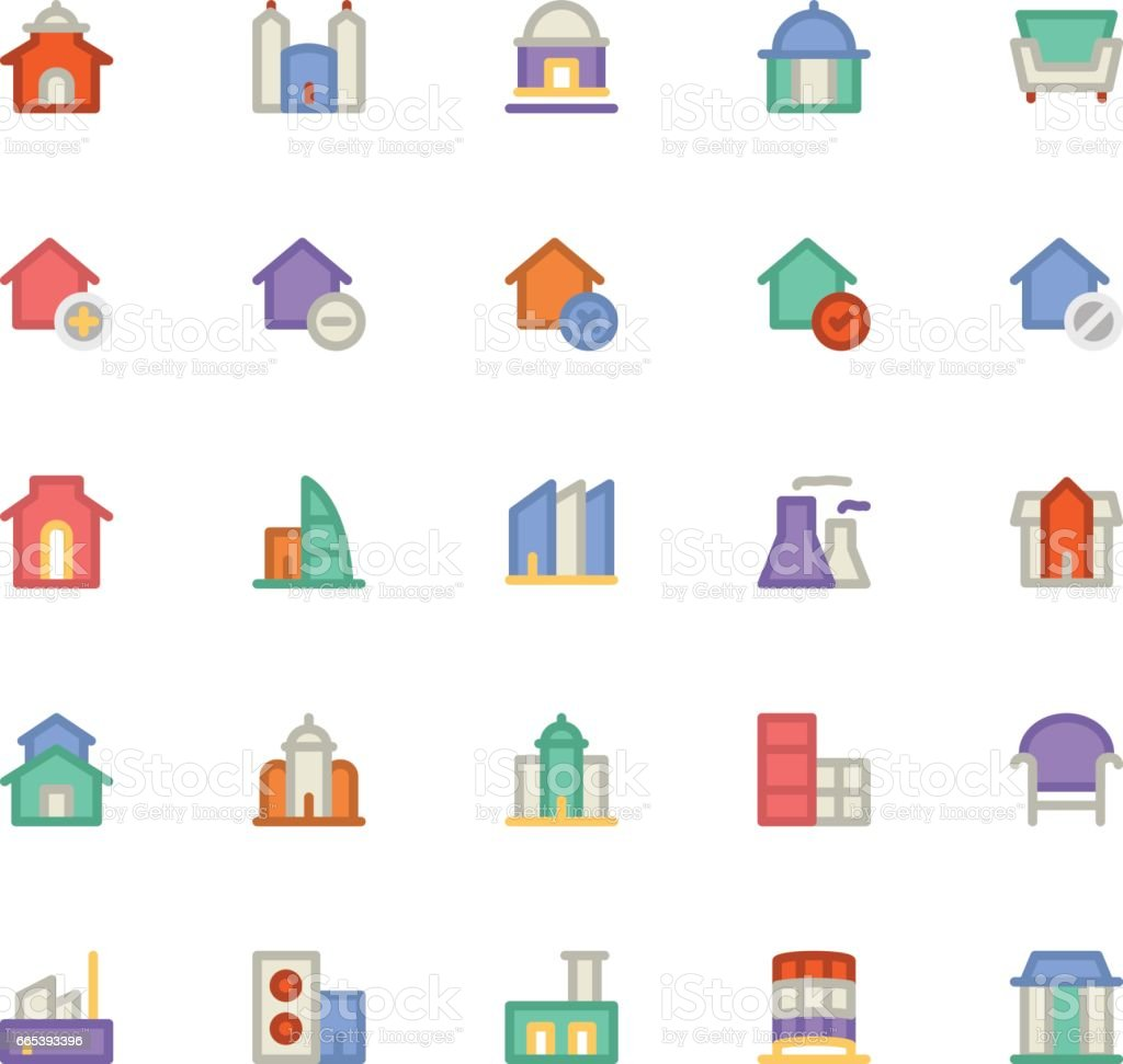 Building & Furniture Vector Icon 3 vector art illustration