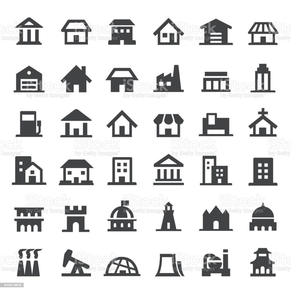 Building Icon - Big Series vector art illustration