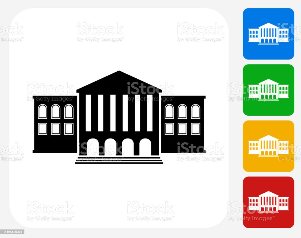 Building Icon Flat Graphic Design vector art illustration