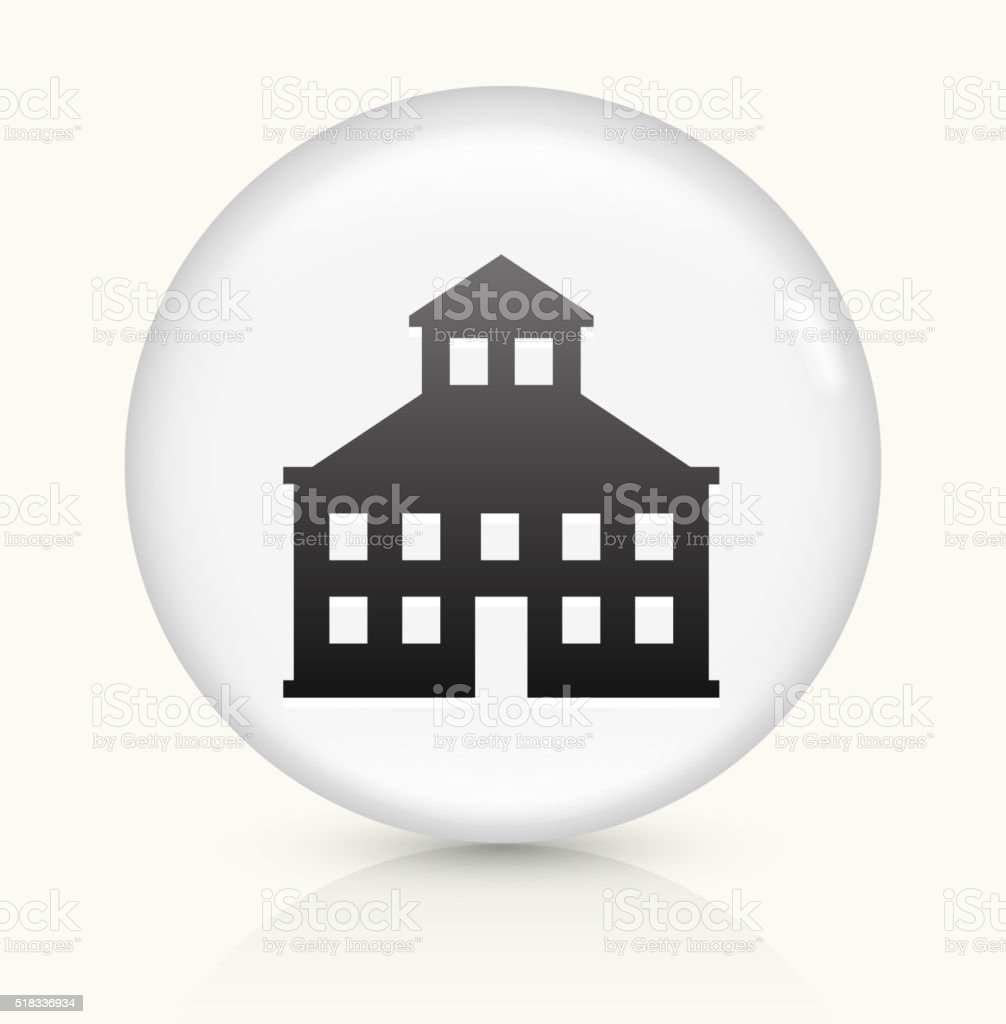 Building icon on white round vector button vector art illustration