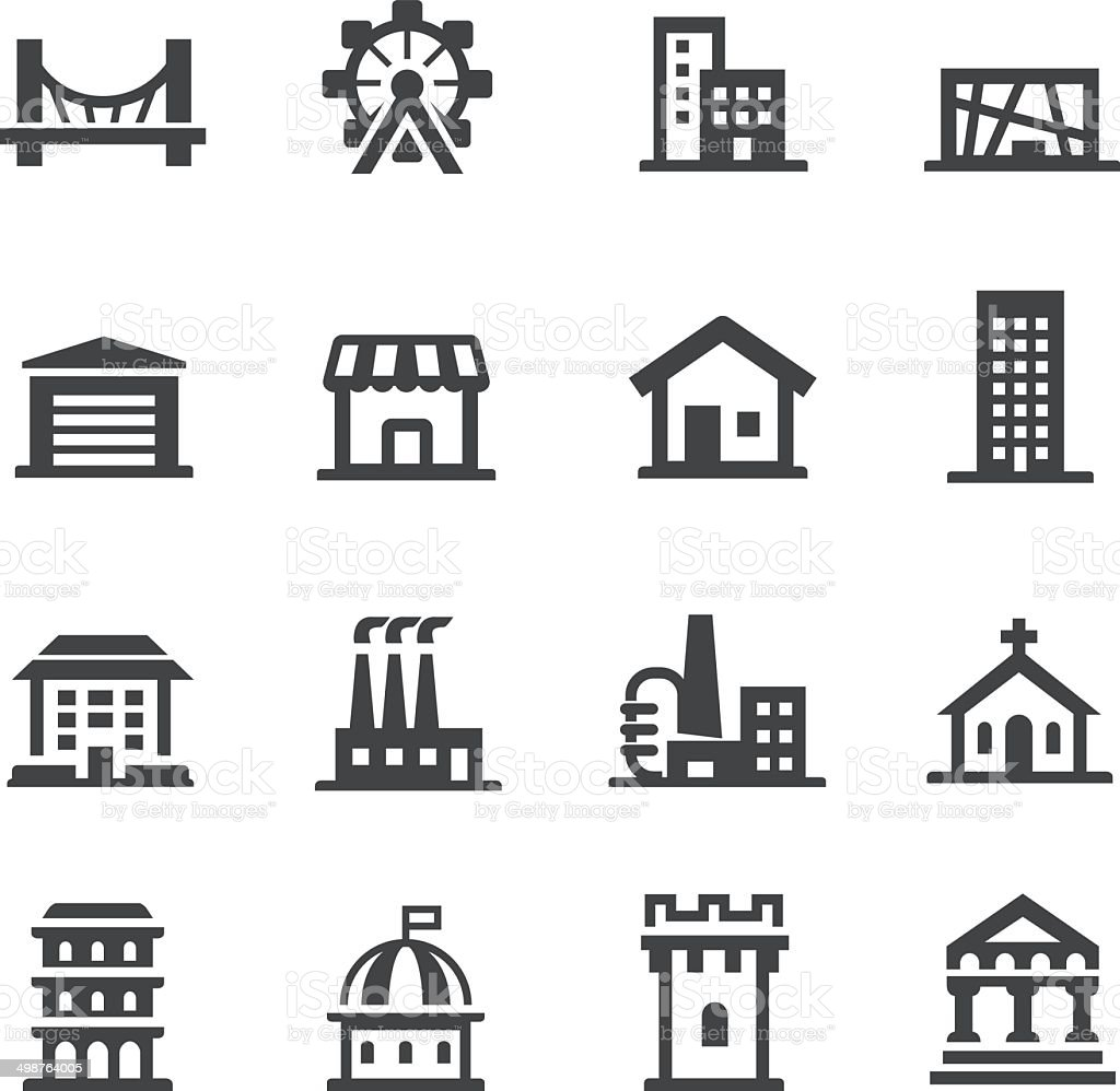 Building Icons Set - Acme Series vector art illustration