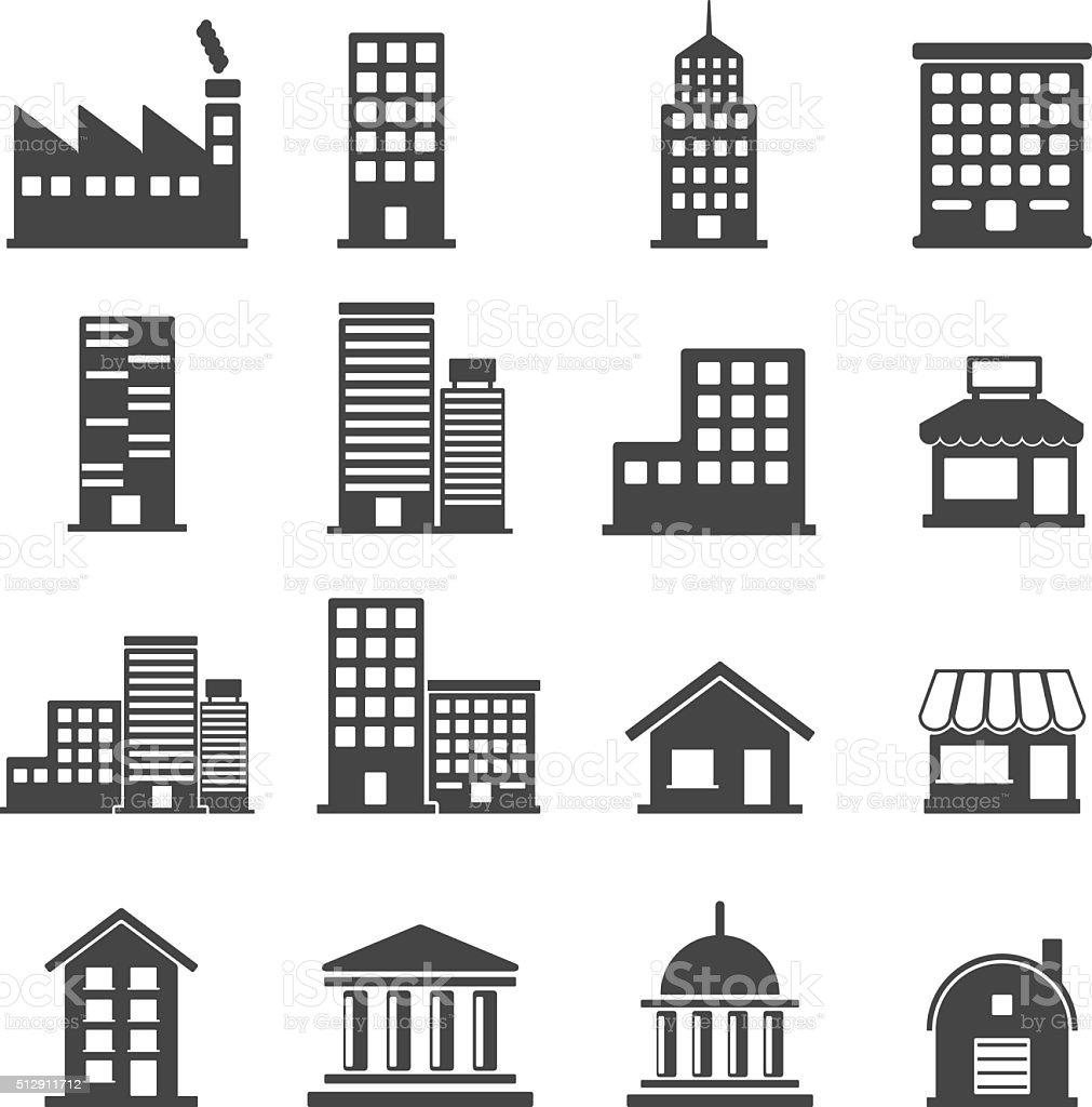 building icons . vector illustration vector art illustration