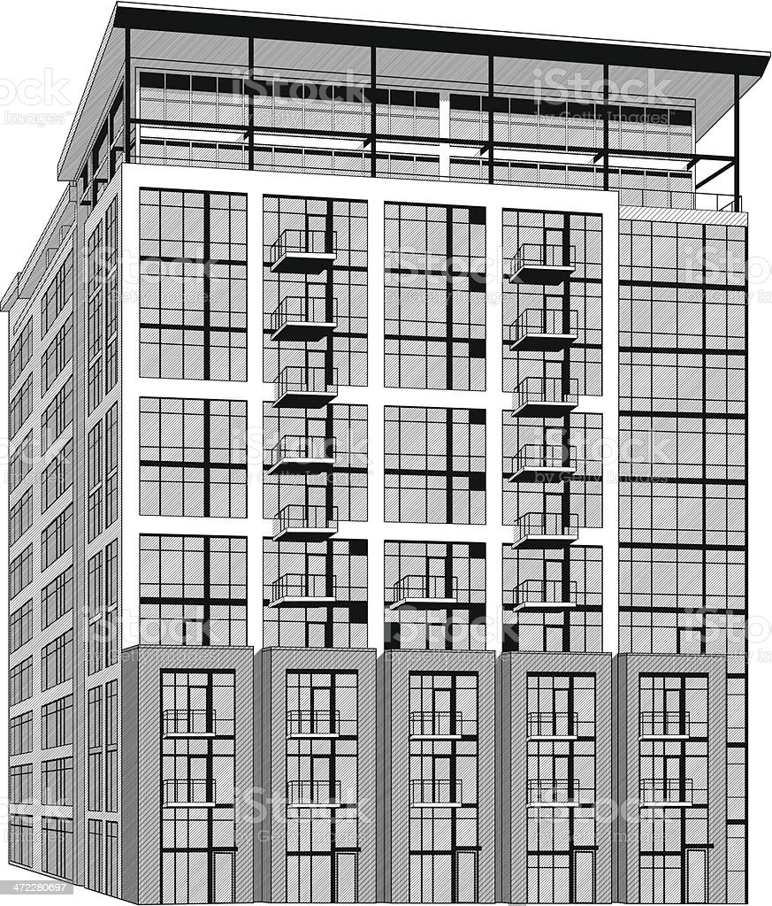 Building illustration royalty-free stock vector art