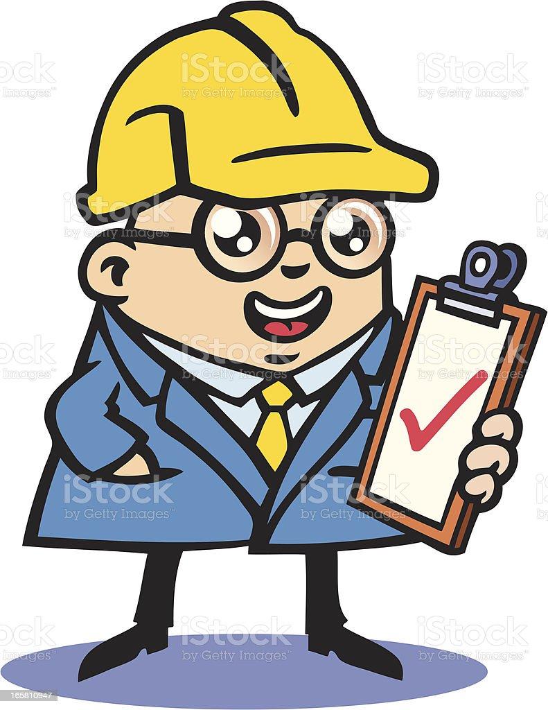 Building Inspector vector art illustration