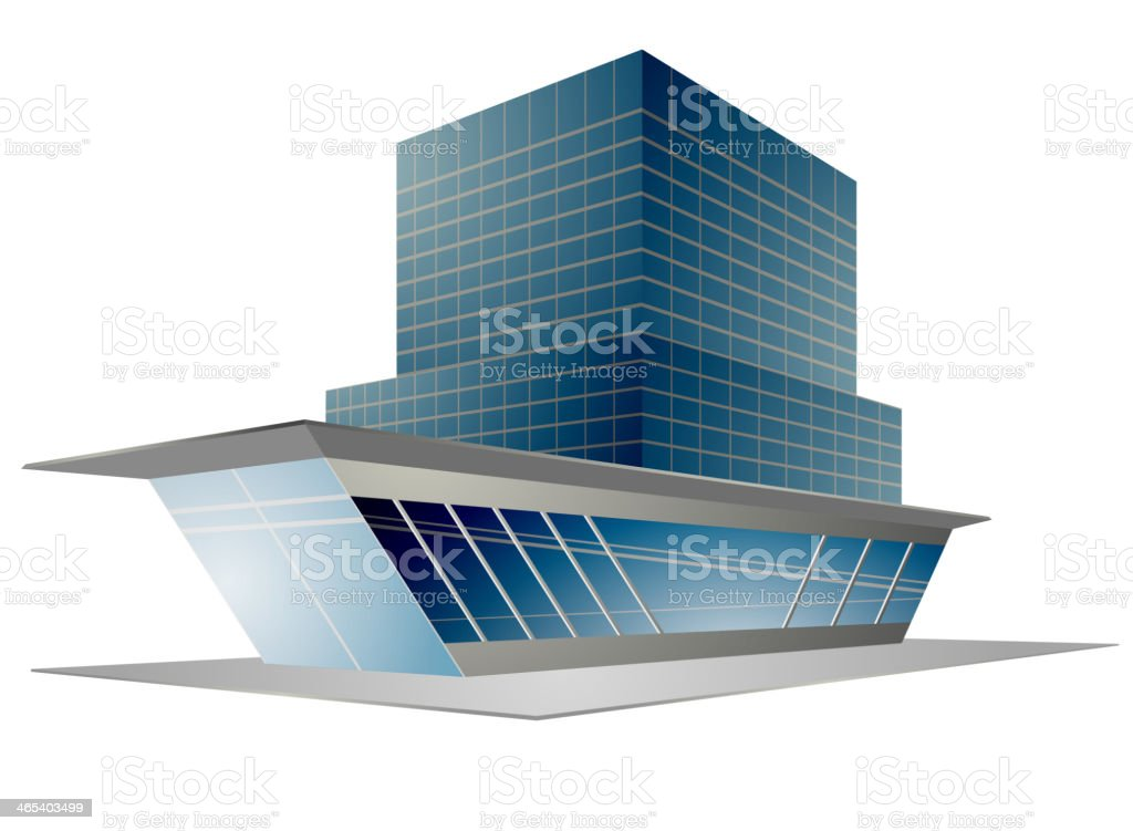 Building modern style royalty-free stock vector art