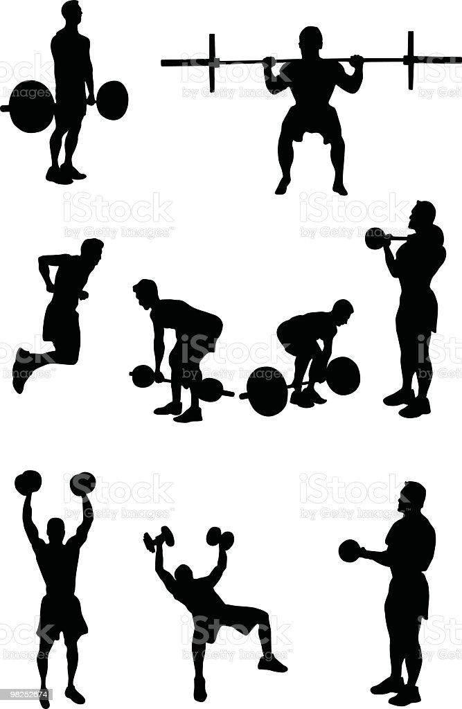 Building Muscle royalty-free stock vector art