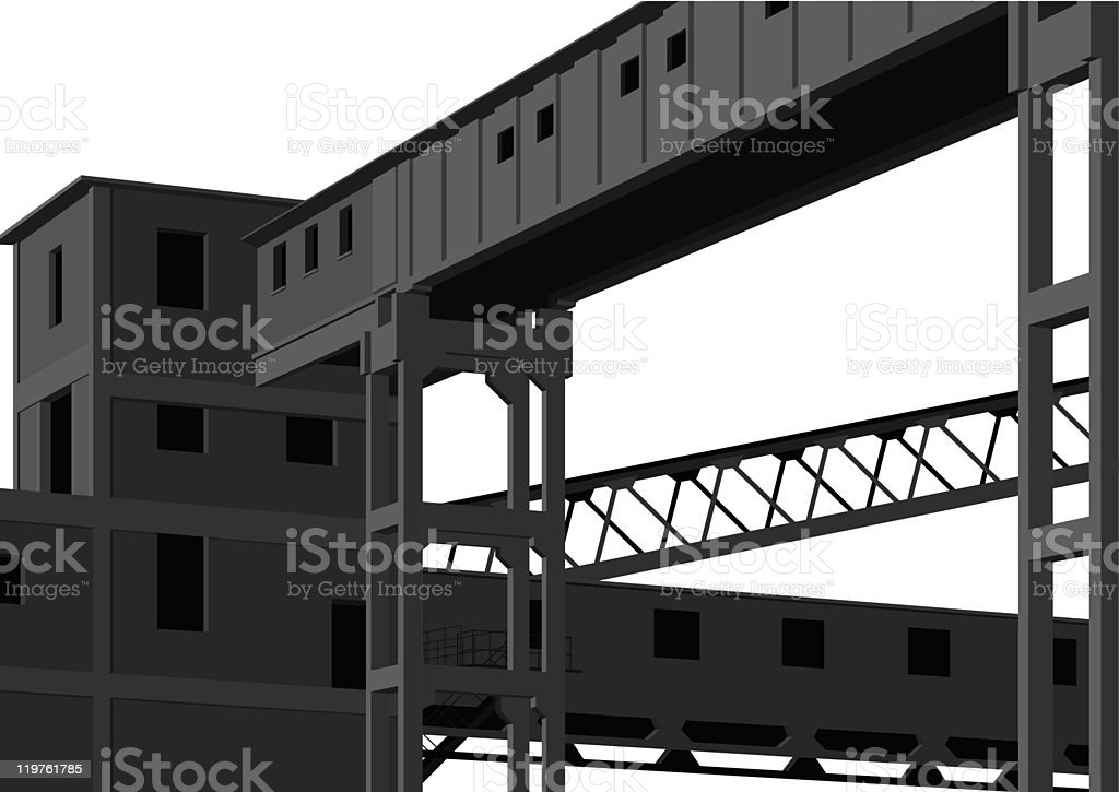building of factory royalty-free stock vector art