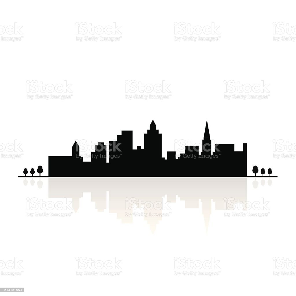 Building silhouettes vector art illustration