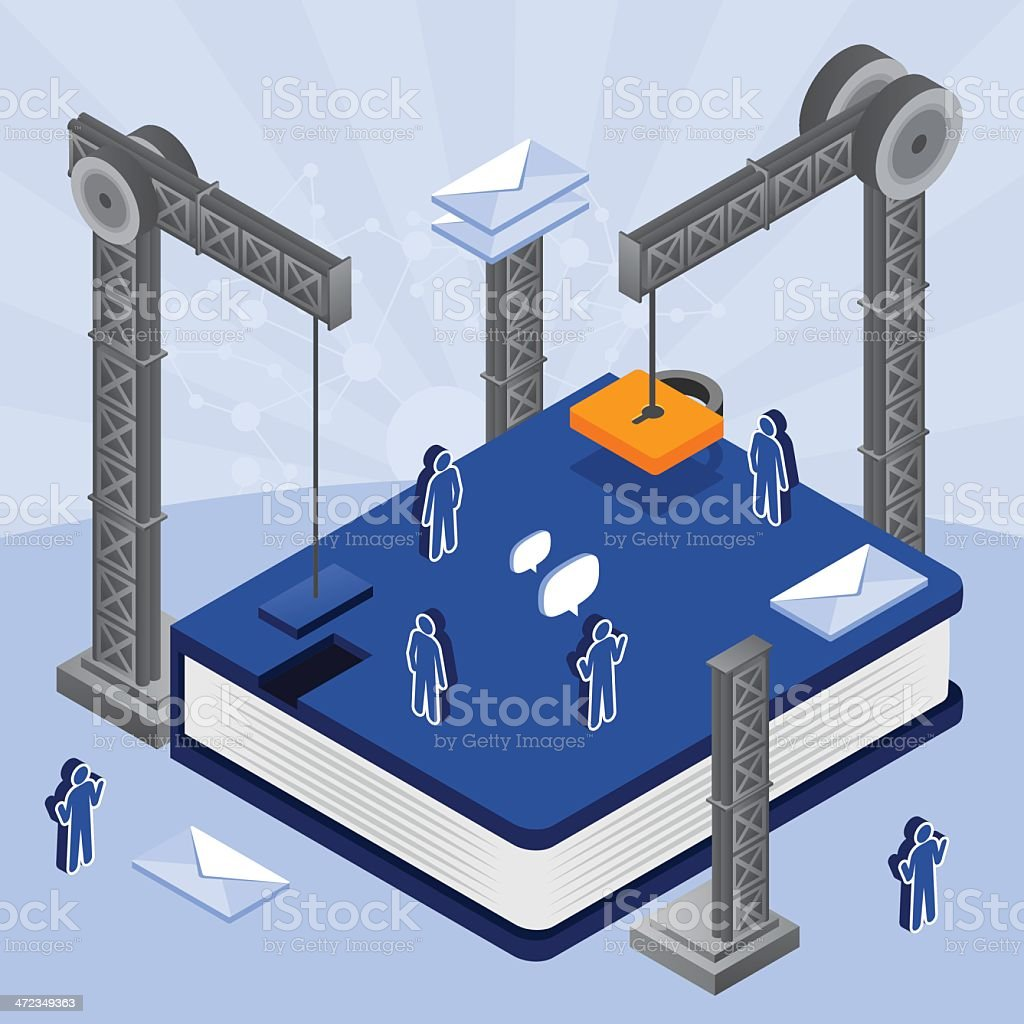 Building the book royalty-free stock vector art