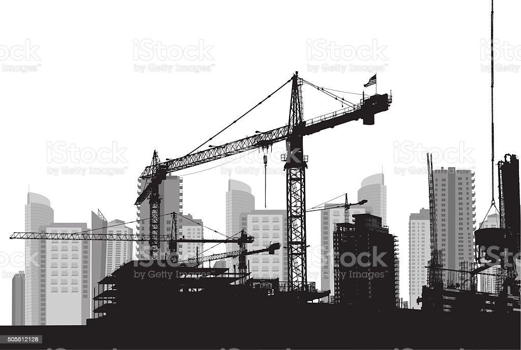 Building The City vector art illustration