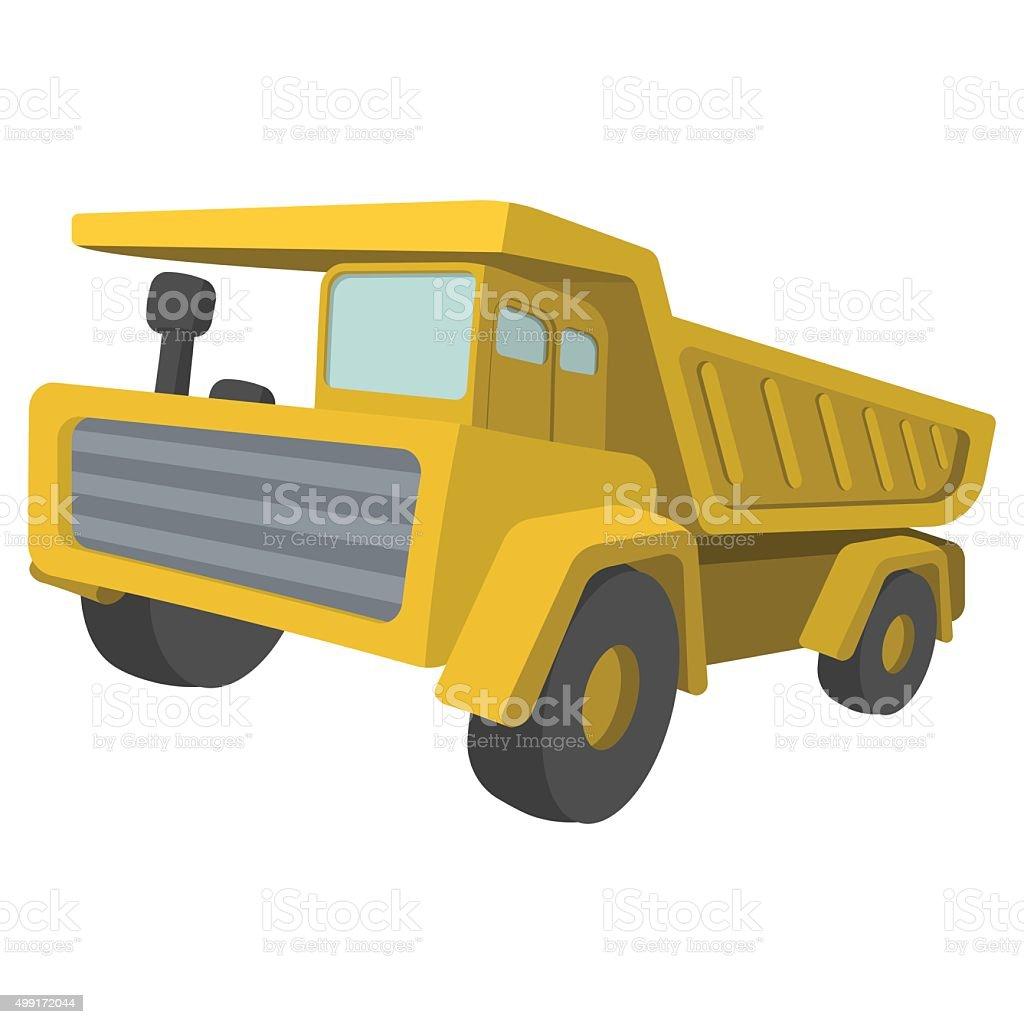 Building truck. Tipper cartoon illustration vector art illustration