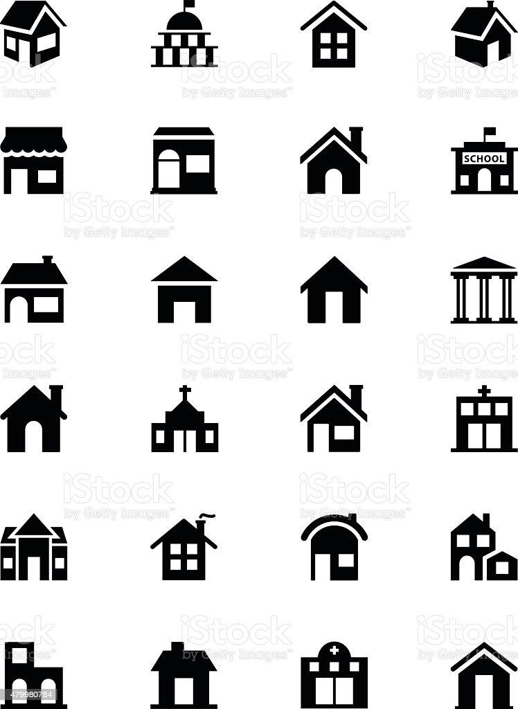 Building Vector Icons 1 vector art illustration
