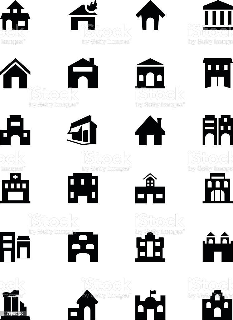 Building Vector Icons 2 vector art illustration