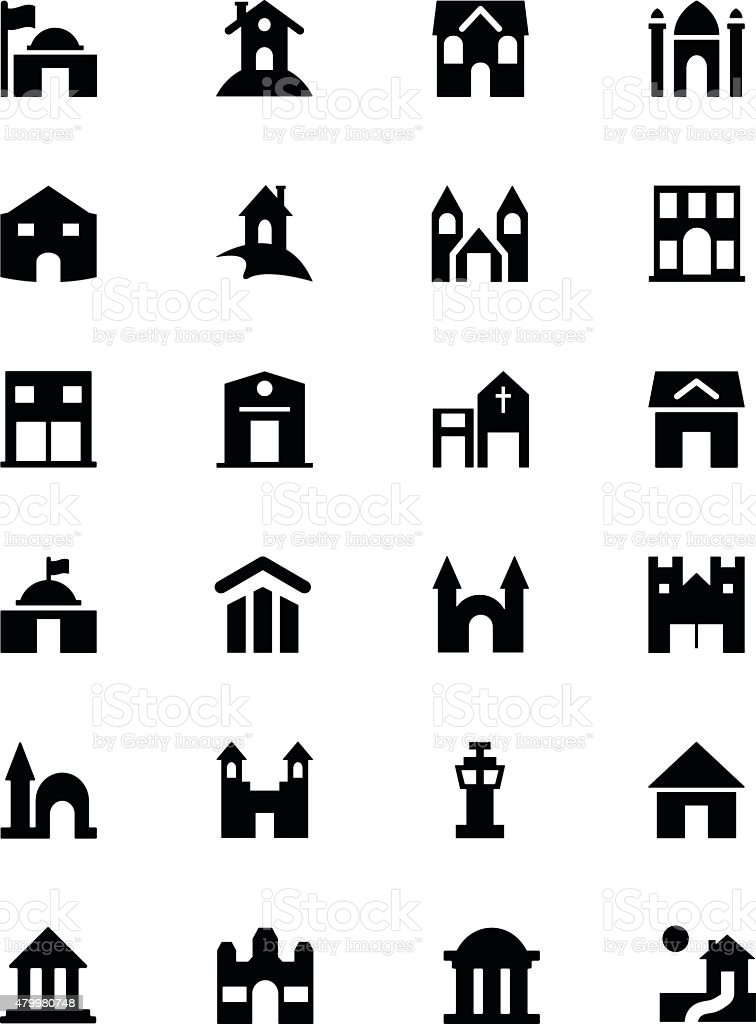 Building Vector Icons 3 vector art illustration