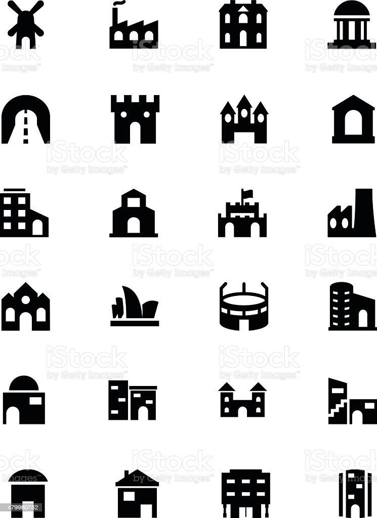 Building Vector Icons 4 vector art illustration