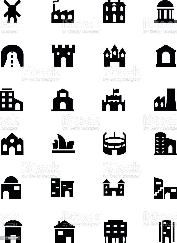 Building Vector Icons 4 vector art illustration