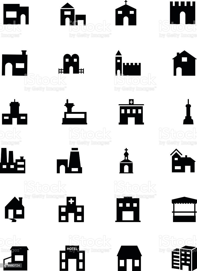 Building Vector Icons 5 vector art illustration
