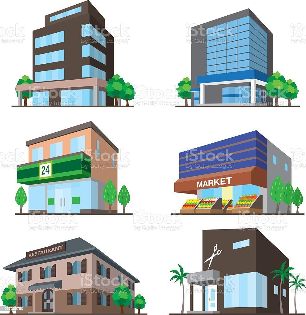 Building vector art illustration