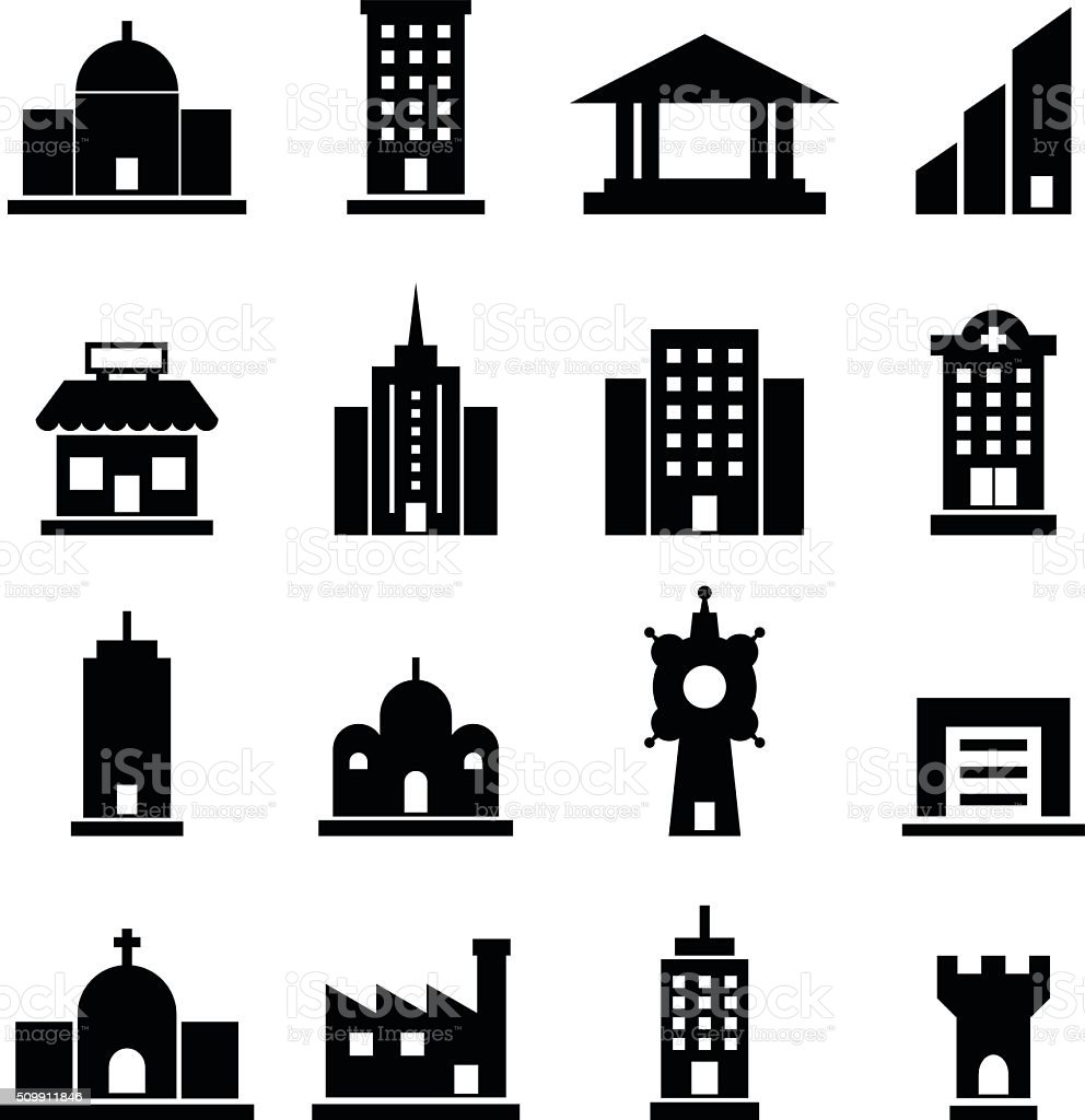 Building vector vector art illustration