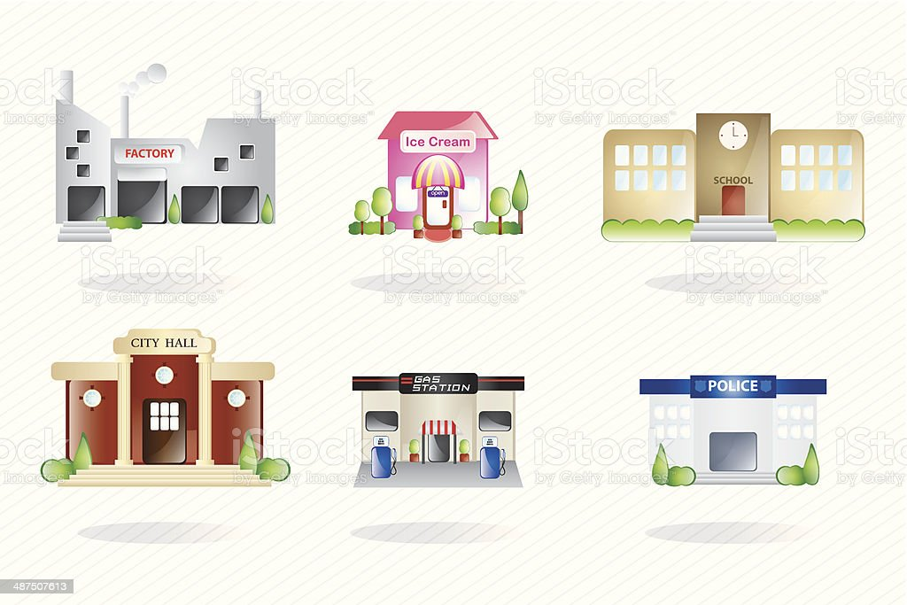 Buildings and city vector art illustration