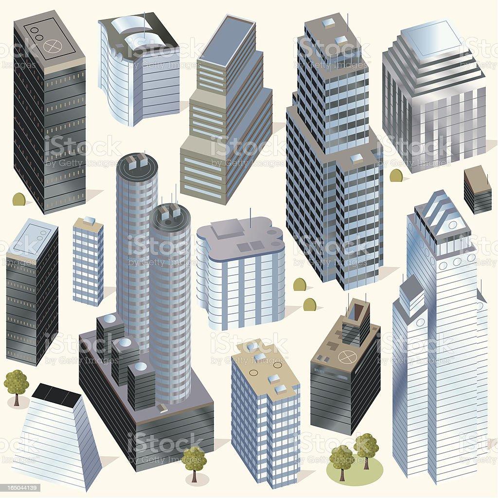 Buildings Hi Rise royalty-free stock vector art
