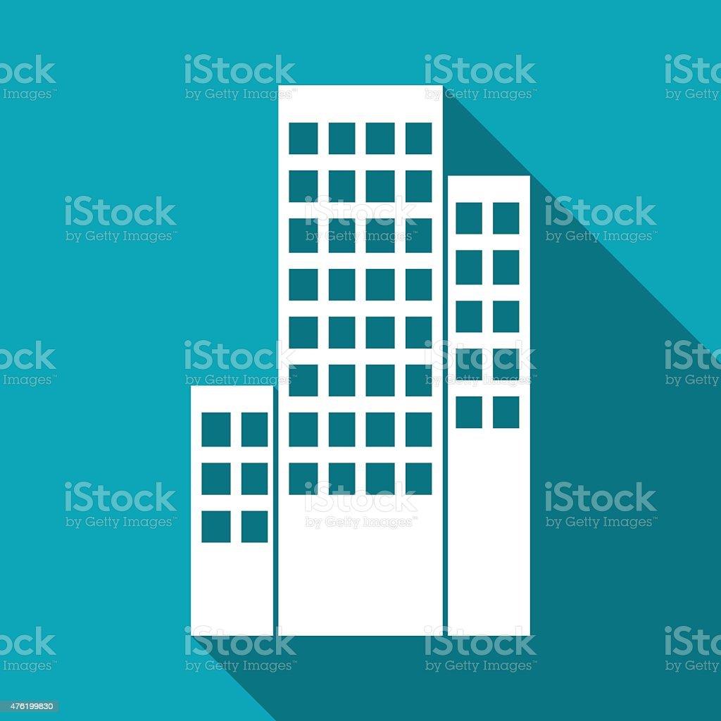 buildings icon vector art illustration