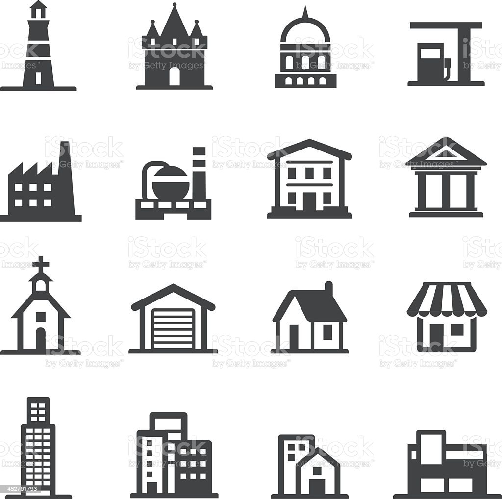 Buildings Icons - Acme Series vector art illustration