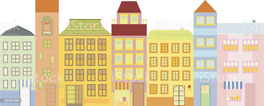 Buildings in Town Block vector illustration royalty-free stock vector art