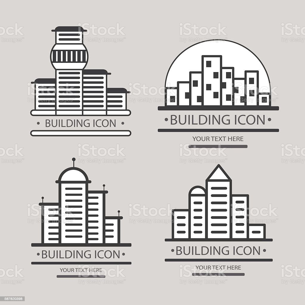 Buildings vector icon for your design. Construction of a city vector art illustration