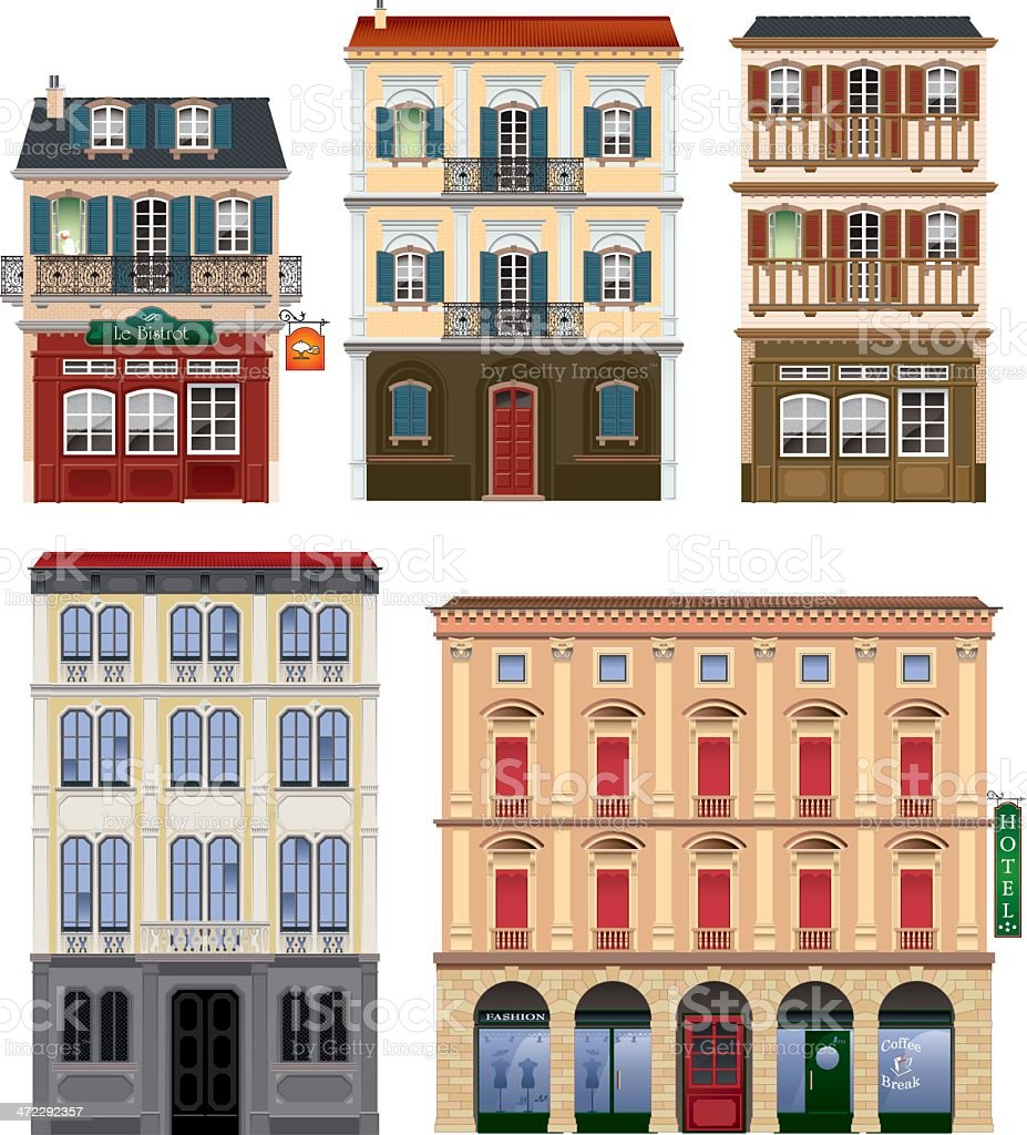 buildings vector art illustration