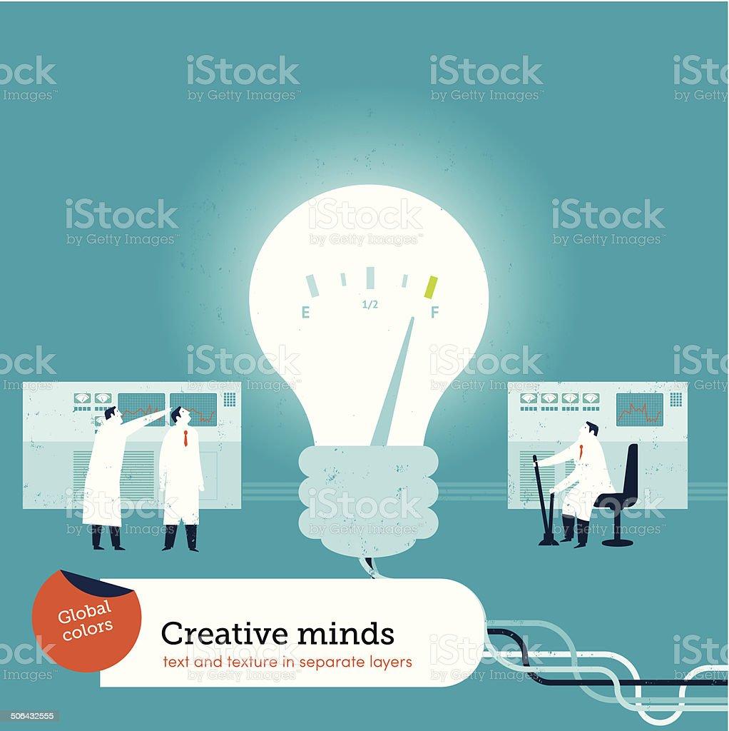 Bulb Creativity vector art illustration