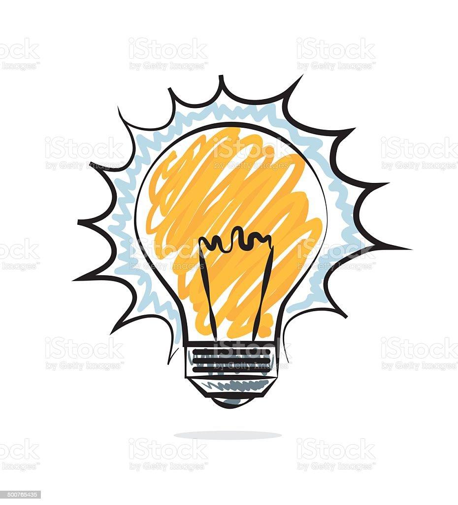 Bulb design vector art illustration