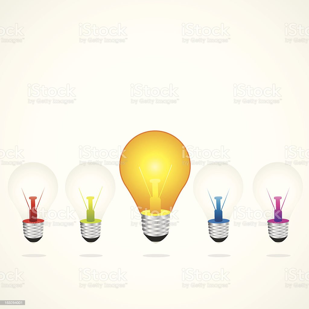 bulb glow royalty-free stock vector art
