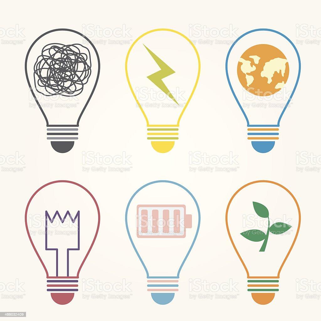 bulb idea vector art illustration