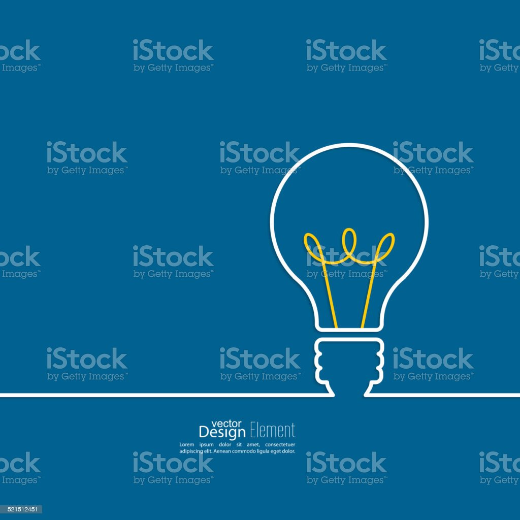 Bulb light idea. vector art illustration