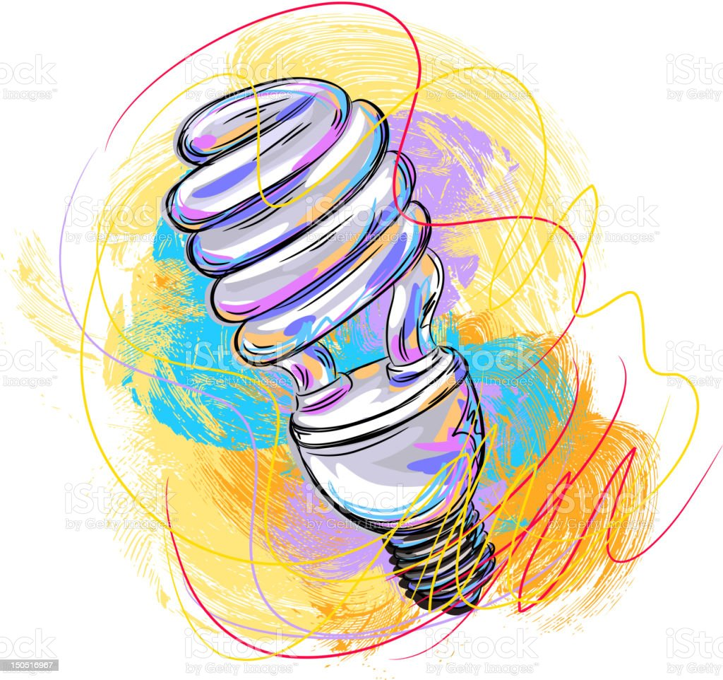 CFL Bulb royalty-free stock vector art