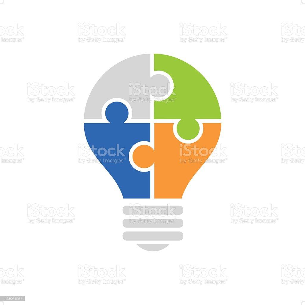 Bulb vector art illustration