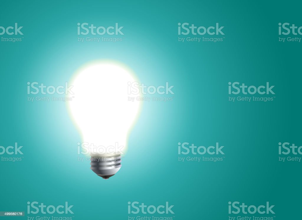 Bulb vector art illustration