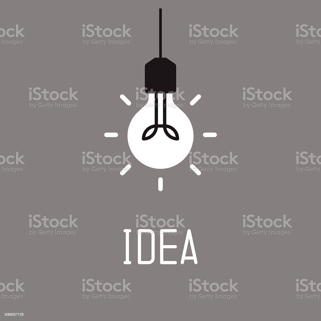 Bulb with idea concept vector art illustration
