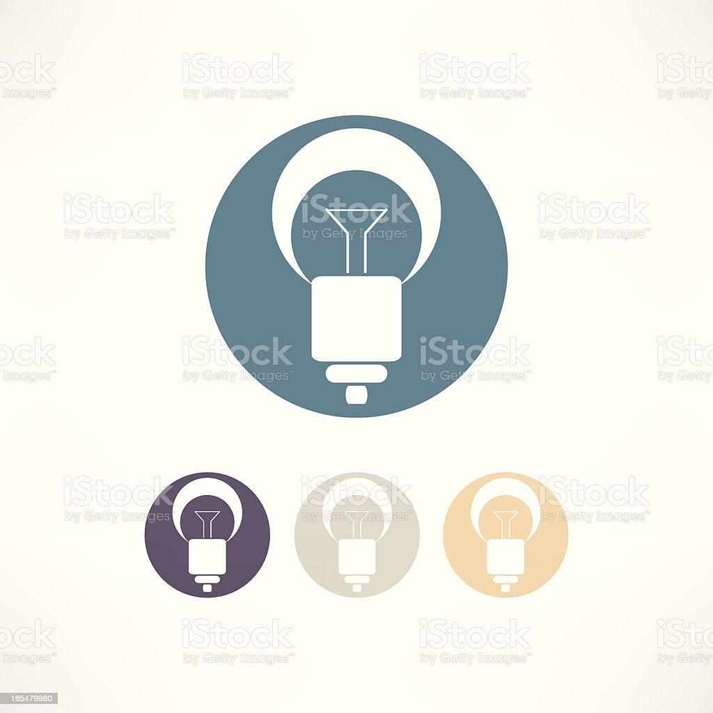 Bulbs icon royalty-free stock vector art