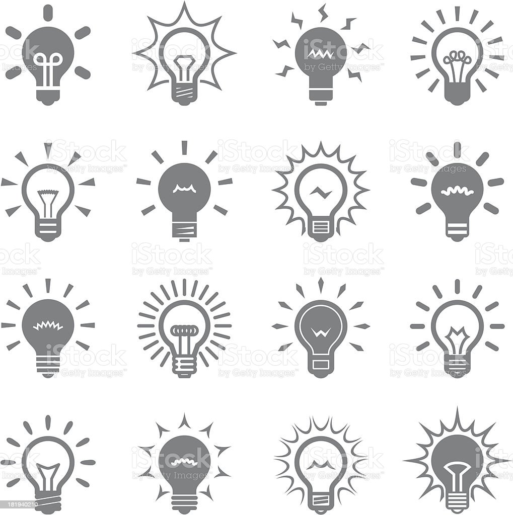 bulbs set vector art illustration