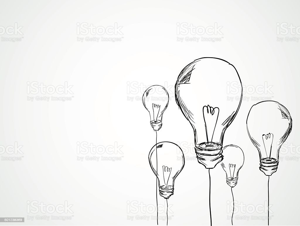 Bulbs Sketch Vector vector art illustration