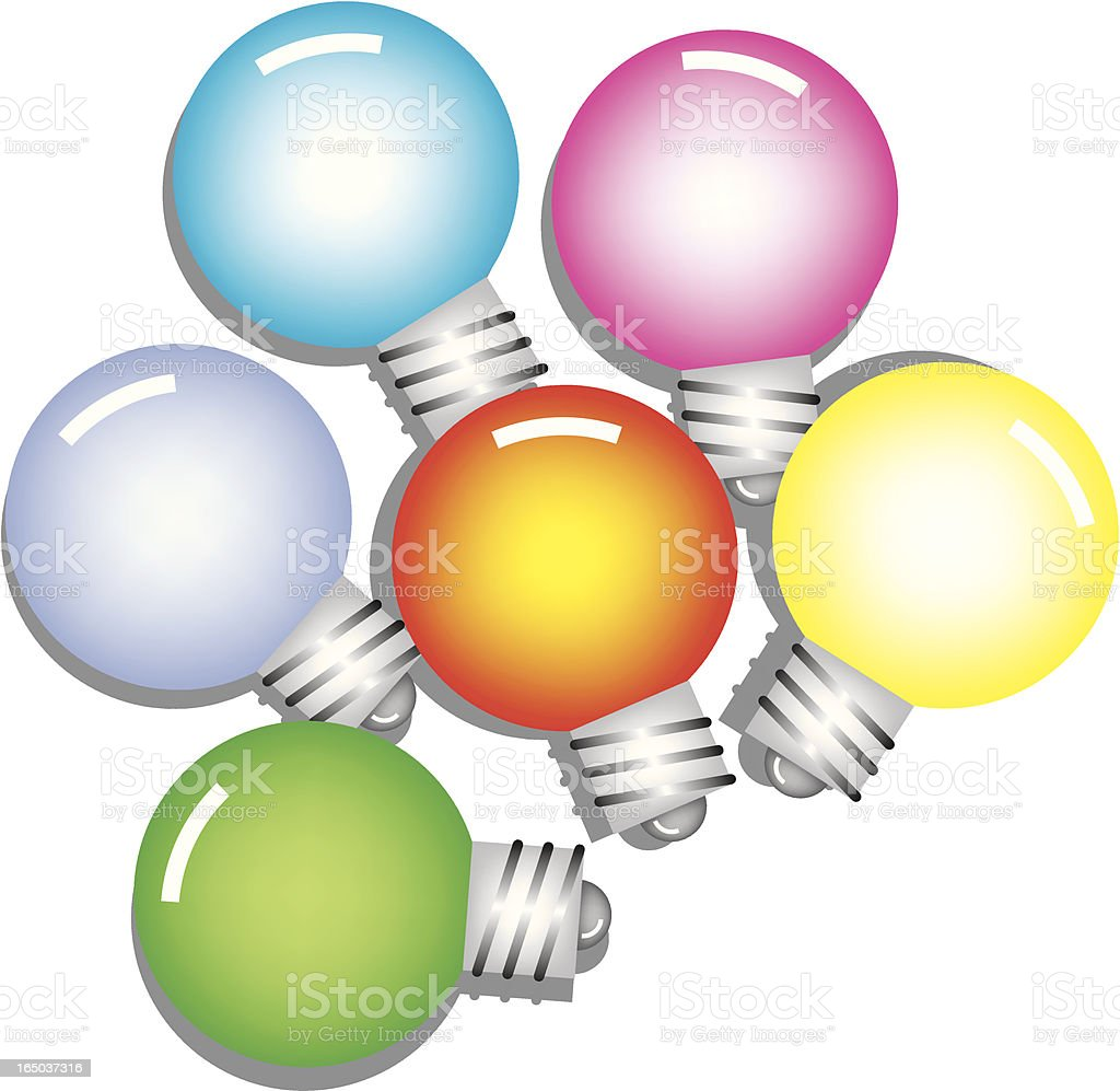 bulbs royalty-free stock vector art