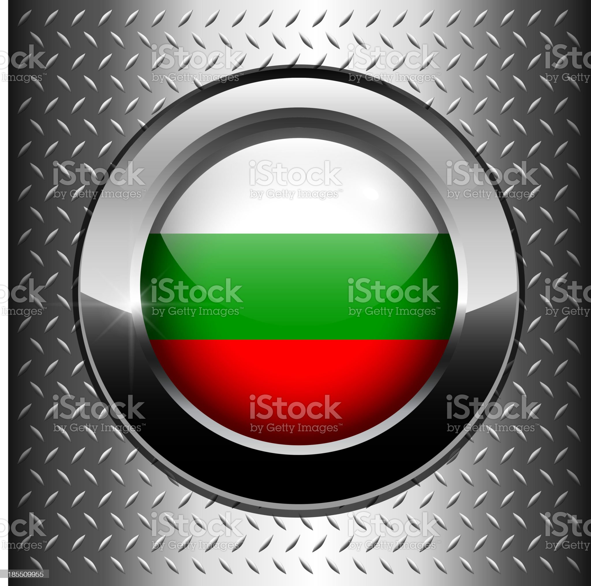Bulgaria, Bulgarian flag button royalty-free stock vector art