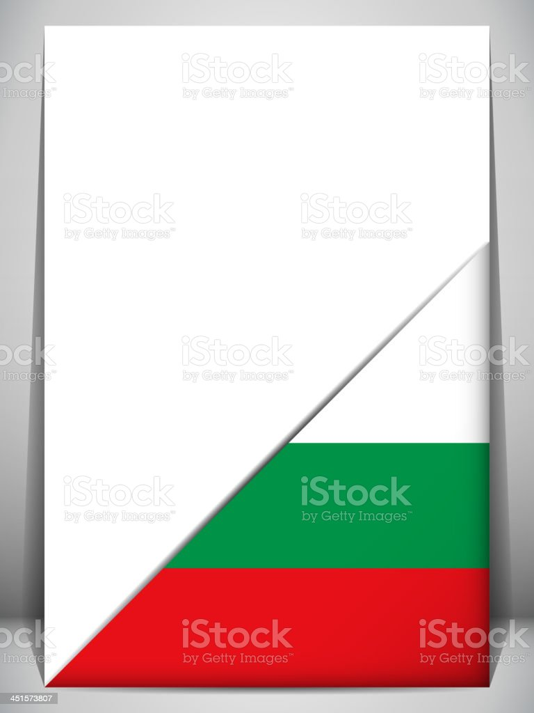 Bulgaria Country Flag Turning Page royalty-free stock vector art