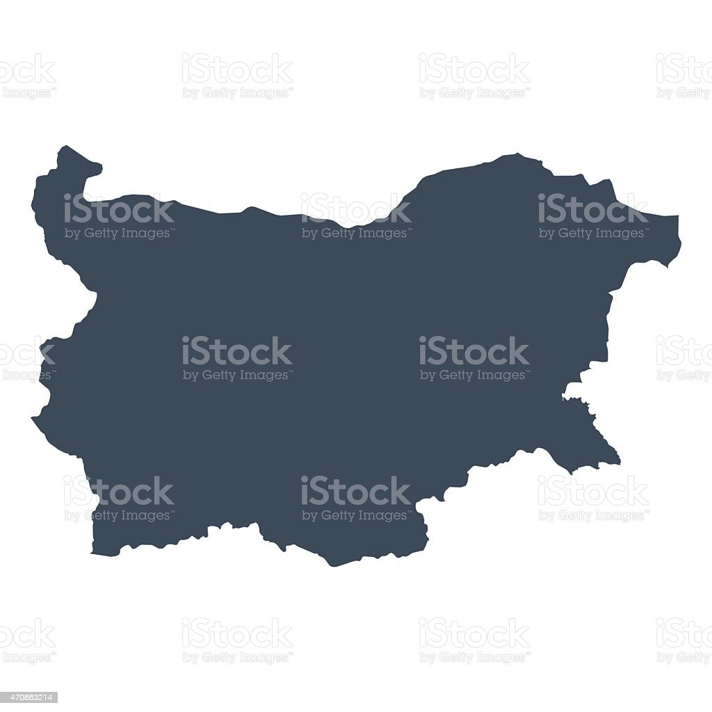 Bulgaria country map vector art illustration