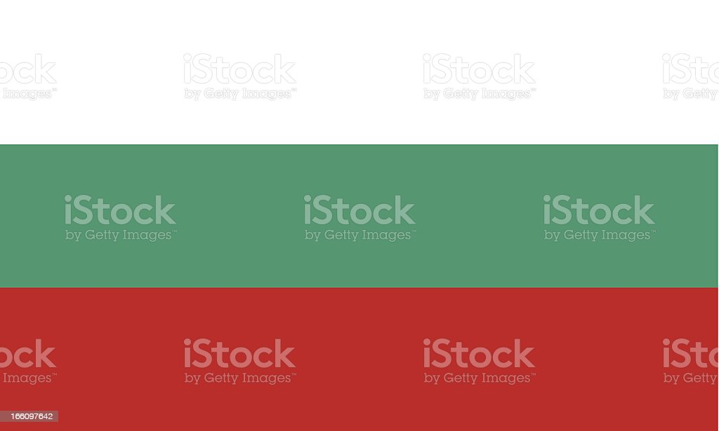 Bulgaria flag background with white green and red stripes vector art illustration
