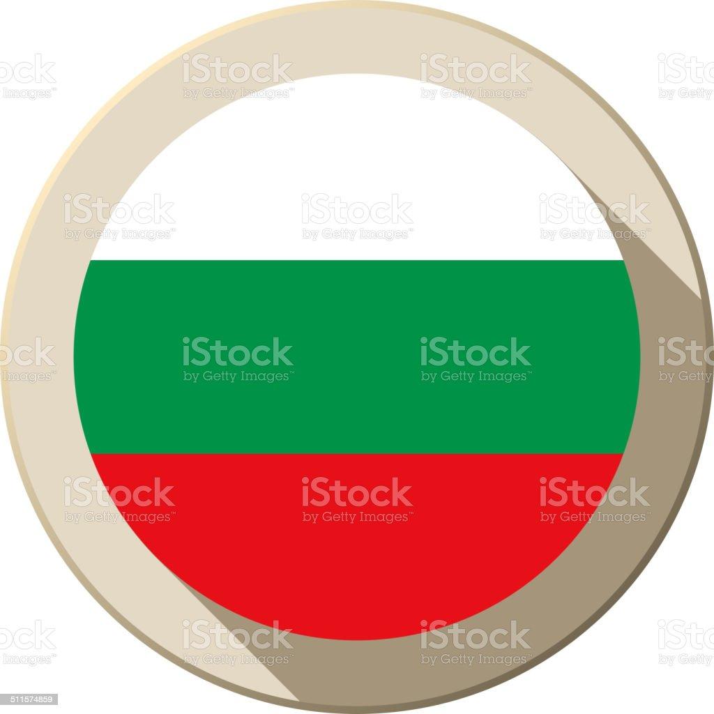 Bulgaria Flag Button Icon Modern vector art illustration