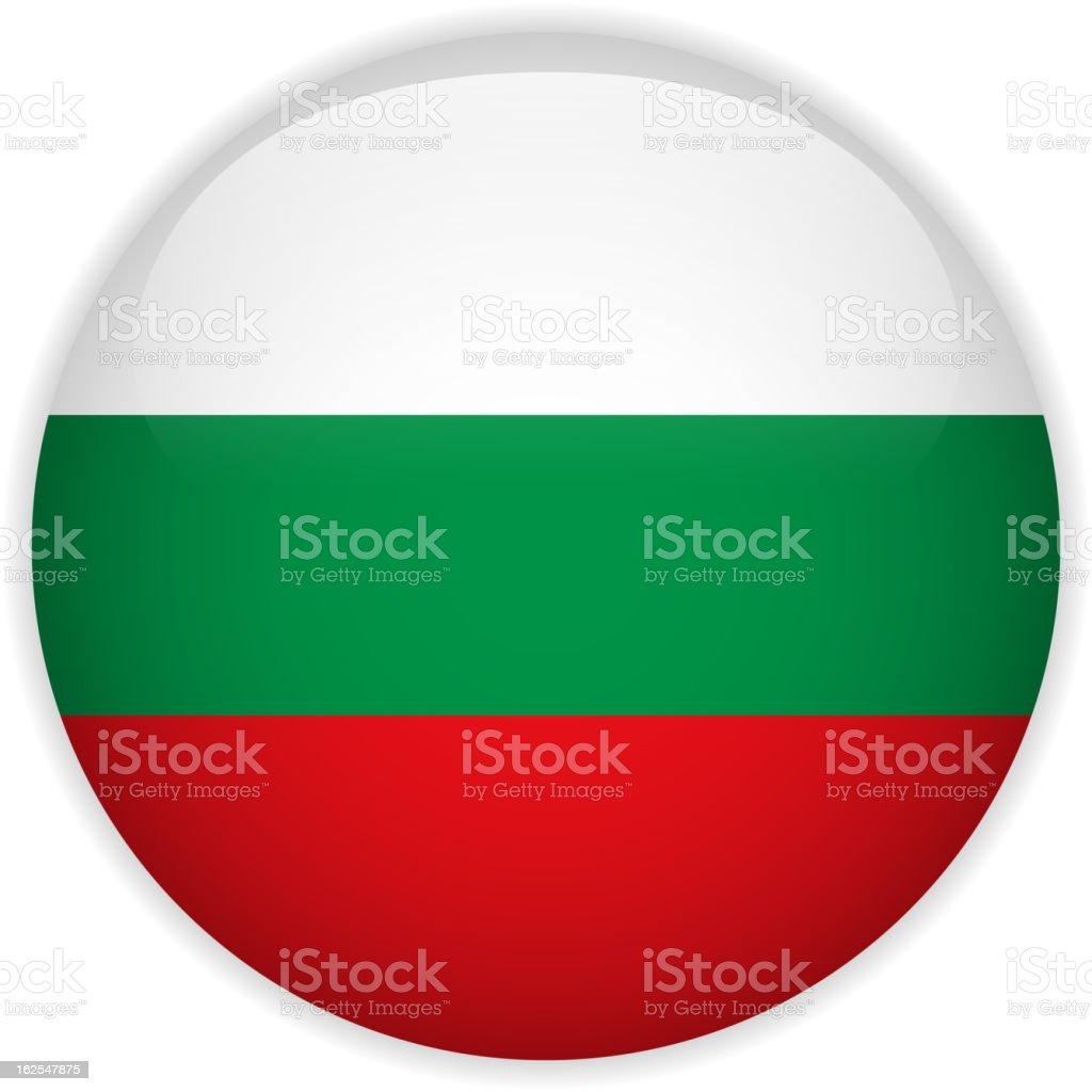 Bulgaria Flag Glossy Button vector art illustration