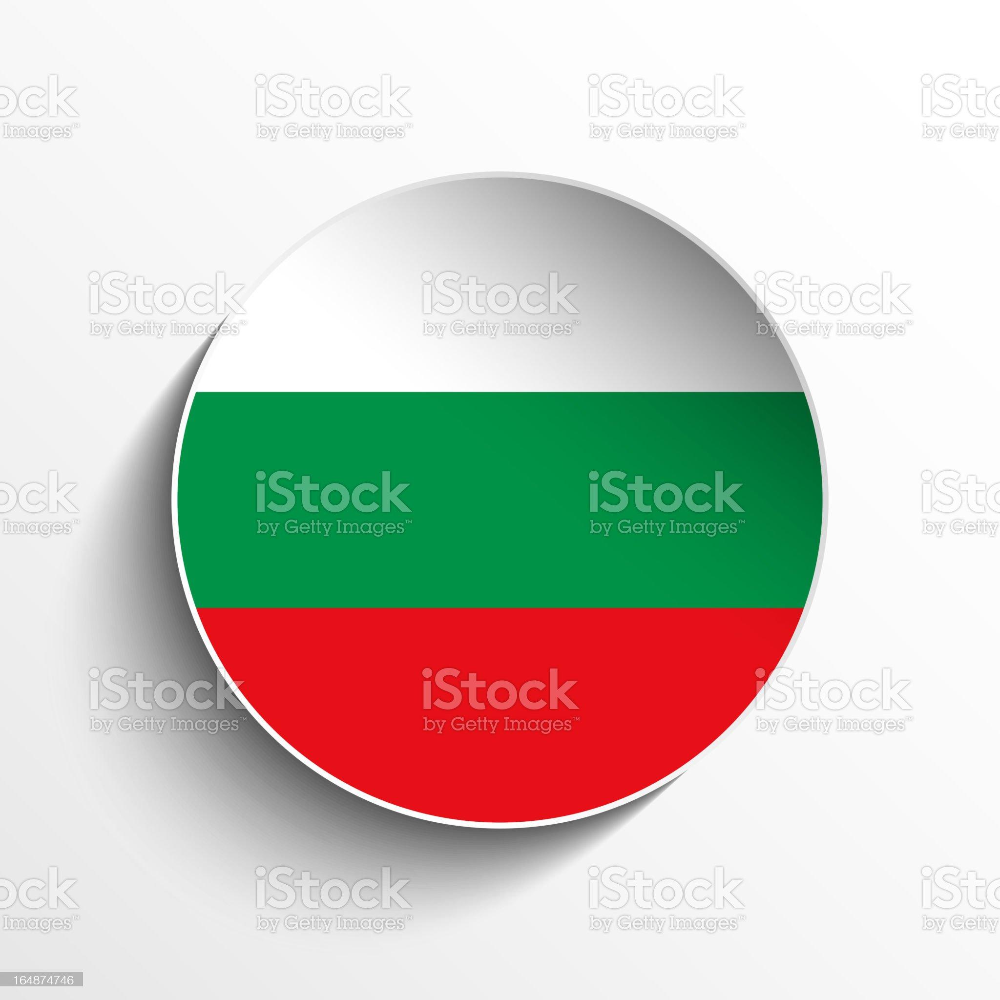 Bulgaria Flag Sticker Button royalty-free stock vector art